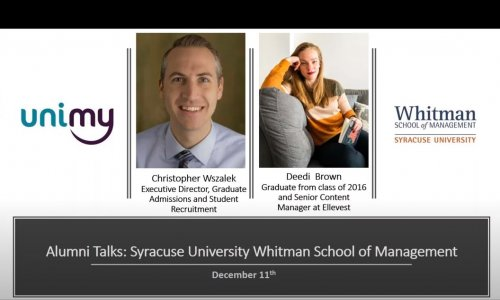 Alumni Talks - Syracuse University Whitman School of Management 11.12.2019