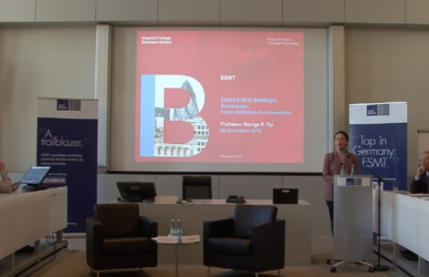 Strategies for Innovation in China | ESMT Open Lecture with George Yip