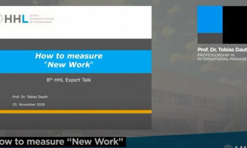 HHL Expert Talk: How to measure New Work