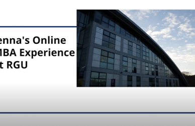 Jenna's Online MBA Experience with RGU