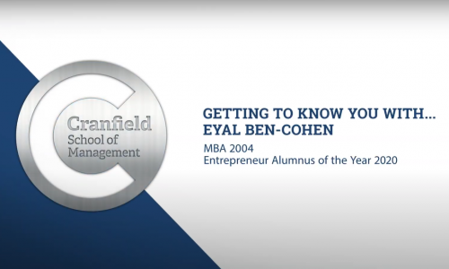 School of Management Alumni Awards 2020: Getting to know Eyal Ben-Cohen