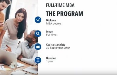 Study a Full-Time MBA