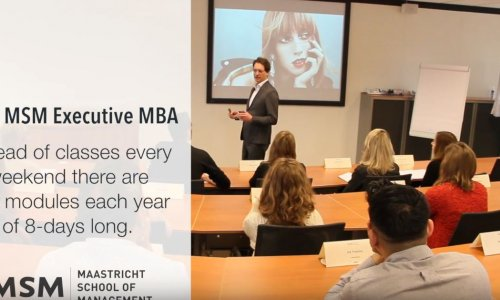 The Executive MBA, designed for working professionals